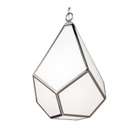 Diamond 4 Light 19 inch Polished Nickel Pendant Ceiling Light in Standard