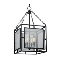 Prairielands 4 Light 16 inch Dark Weathered Zinc Pendant Ceiling Light