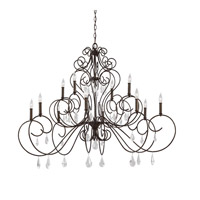 Angelette 12 Light 50 inch Bonnieaux Bronze Chandelier Ceiling Light