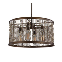 Feiss Colorado Springs 4 Light Pendant in Chestnut Bronze F3045/4CSTB-F