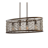 Feiss F3047/4CSTB Colorado Springs 4 Light 33 inch Chestnut Bronze Linear Chandelier Ceiling Light