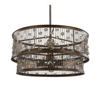 Feiss Colorado Springs 6 Light Chandelier in Chestnut Bronze F3048/6CSTB-F