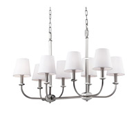 Pentagram 8 Light Satin Nickel / Polished Nickel Island Chandelier Ceiling Light