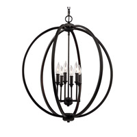 Feiss F3061/6ORB Corinne 6 Light 25 inch Oil Rubbed Bronze Pendant Ceiling Light