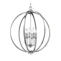 Feiss F3061/6PN Corinne 6 Light 25 inch Polished Nickel Globe Pendant Ceiling Light