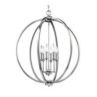 Feiss F3061/6PN Corinne 6 Light 25 inch Polished Nickel Globe Pendant Ceiling Light
