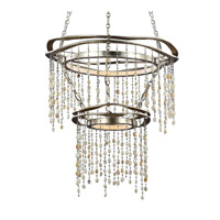 Feiss Stonesend Chandelier in Silver Leaf Antique F3062/2SLA