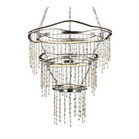 Stonesend 3 Light 30 inch Silver Leaf Antique Chandelier Ceiling Light