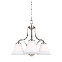 Feiss F3064/3SN Hamlet 3 Light 23 inch Satin Nickel Chandelier Ceiling Light