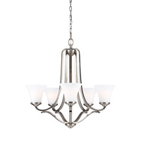 Hamlet 5 Light 27 inch Satin Nickel Chandelier Ceiling Light