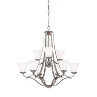 Hamlet 9 Light 35 inch Satin Nickel Chandelier Ceiling Light