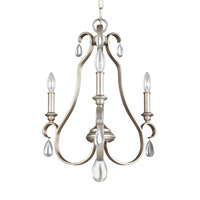 DeWitt 3 Light 18 inch Sunrise Silver Chandelier Ceiling Light