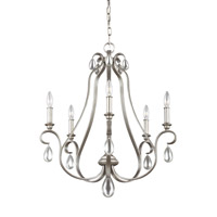 Feiss DeWitt 5 Light Chandelier in Sunrise Silver F3070/5SRS