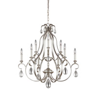 Feiss DeWitt 9 Light Chandelier in Sunrise Silver F3071/9SRS