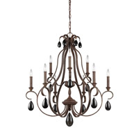 Feiss DeWitt 9 Light Chandelier in Weathered Iron F3071/9WI