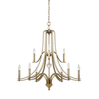 Feiss Evington 9 Light Chandelier in Sunset Gold F3076/9SG