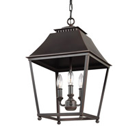 Feiss Galloway 3 Light Pendant in Dark Antique Copper and Antique Copper F3089/3DAC/AC