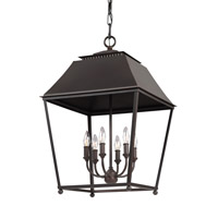 Feiss Galloway 6 Light Pendant in Dark Antique Copper and Antique Copper F3090/6DAC/AC