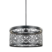 Feiss Arramore LED Outdoor Pendant in Dark Weathered Zinc with White Acrylic Diffusers F3097/1DWZ-LED
