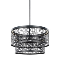 Feiss F3098/2DWZ-LED Arramore LED 24 inch Dark Weathered Zinc Outdoor Pendant