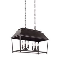 Feiss Galloway 6 Light Chandelier in Dark Antique Copper and Antique Copper F3105/6DAC/AC