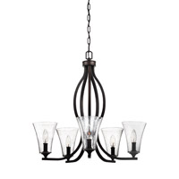 Feiss F3112/5ORB Marteau 5 Light 25 inch Oil Rubbed Bronze Chandelier Ceiling Light