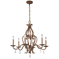 Celise 6 Light 28 inch Venetian Mist Chandelier Ceiling Light