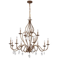 Celise 12 Light 48 inch Venetian Mist Chandelier Ceiling Light