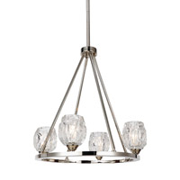 Rubin 4 Light 21 inch Polished Nickel Chandelier Ceiling Light