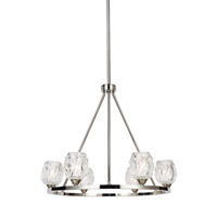 Feiss F3126/6PN Rubin 6 Light 21 inch Polished Nickel Chandelier Ceiling Light