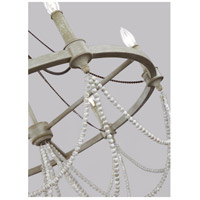 Feiss F3132/6FWO/DWW Beverly 6 Light 28 inch French Washed Oak and Distressed White Wood Chandelier Ceiling Light  alternative photo thumbnail