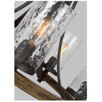 Feiss F3133/5DWK/SGM Angelo 5 Light 24 inch Distressed Weathered Oak and Slated Grey Metal Chandelier Ceiling Light alternative photo thumbnail