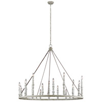 Distressed White Steel Chandeliers