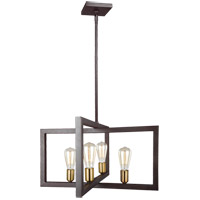 Finnegan 4 Light 24 inch New World Bronze Chandelier Ceiling Light