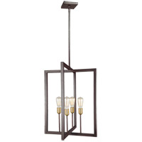 Finnegan 4 Light 21 inch New World Bronze Chandelier Ceiling Light
