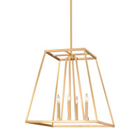 Conant 4 Light 23 inch Gilded Satin Brass Pendant Ceiling Light