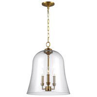 Feiss F3154/3BBS Lawler 3 Light 15 inch Burnished Brass Pendant Ceiling Light