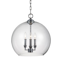 Lawler 3 Light 16 inch Chrome Pendant Ceiling Light
