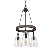 Feiss F3168/3DWI Loras 3 Light 16 inch Dark Weathered Iron Chandelier Ceiling Light