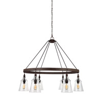 Feiss F3170/6DWI Loras 6 Light 37 inch Dark Weathered Iron Chandelier Ceiling Light