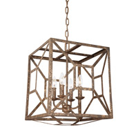 Marquelle 4 Light 17 inch Distressed Goldleaf Chandelier Ceiling Light