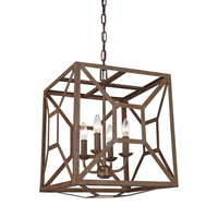 Marquelle 4 Light 17 inch Weathered Iron Chandelier Ceiling Light