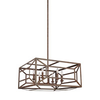 Marquelle 6 Light 28 inch Weathered Iron Chandelier Ceiling Light