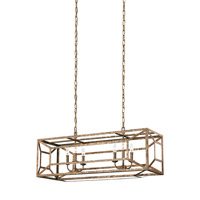 Marquelle 6 Light 15 inch Distressed Goldleaf Chandelier Ceiling Light