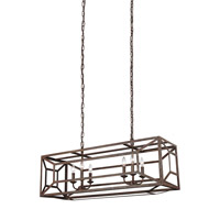 Feiss F3173/6WI Marquelle 6 Light 15 inch Weathered Iron Chandelier Ceiling Light