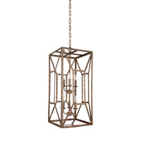Marquelle 6 Light 17 inch Distressed Goldleaf Chandelier Ceiling Light