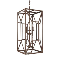Marquelle 6 Light 17 inch Weathered Iron Chandelier Ceiling Light