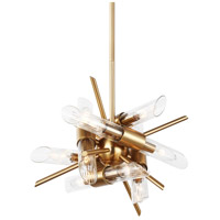 Feiss F3180/12BBS Quorra 12 Light 17 inch Burnished Brass Chandelier Ceiling Light
