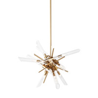 Quorra 14 Light 33 inch Burnished Brass Chandelier Ceiling Light