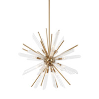 Quorra 16 Light 33 inch Burnished Brass Chandelier Ceiling Light
